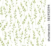 seamless greenery pattern with... | Shutterstock .eps vector #581953594