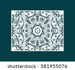 flyer laser cut a mandala. cut... | Shutterstock .eps vector #581955076