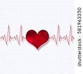 heart pulsating rhythm graph... | Shutterstock . vector #581963350