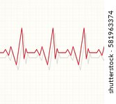 heart pulsating rhythm graph... | Shutterstock . vector #581963374