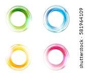 vector abstract circles set.... | Shutterstock .eps vector #581964109