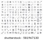 big garage set. vector car... | Shutterstock .eps vector #581967130