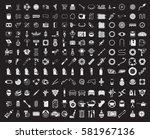 big garage set. vector car... | Shutterstock .eps vector #581967136