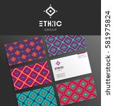 vector modern business card... | Shutterstock .eps vector #581975824