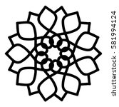 mandalas for coloring book.... | Shutterstock .eps vector #581994124