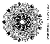 mandalas for coloring book.... | Shutterstock .eps vector #581994160
