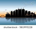 nashville skyline   tennessee   ...   Shutterstock .eps vector #581995228