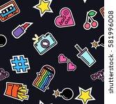 modern slogans. rainbow effect. ... | Shutterstock .eps vector #581996008