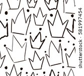 seamless vector pattern with...   Shutterstock .eps vector #581997454