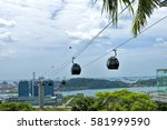 singapore   february 11  cable... | Shutterstock . vector #581999590