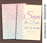 wedding invitation card suite... | Shutterstock .eps vector #582001018