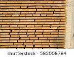 stock of wooden board plank on... | Shutterstock . vector #582008764
