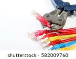 group of connectors rj45 and... | Shutterstock . vector #582009760