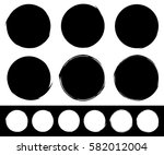 set of textured  rough and... | Shutterstock . vector #582012004