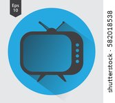 old tv flat icon. simple symbol ... | Shutterstock .eps vector #582018538