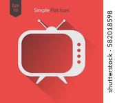 old tv flat icon. simple symbol ... | Shutterstock .eps vector #582018598