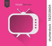 old tv flat icon. simple symbol ... | Shutterstock .eps vector #582018604