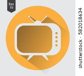 old tv flat icon. simple symbol ... | Shutterstock .eps vector #582018634