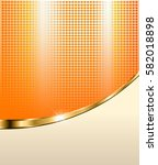 abstract orange background with ... | Shutterstock .eps vector #582018898