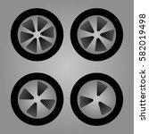 Set Of Car Wheels Three Four...
