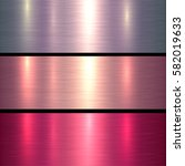 metal textures pink and red... | Shutterstock .eps vector #582019633