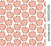 red apple vector seamless...   Shutterstock .eps vector #582022450