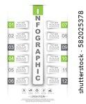 infographic timeline stiker... | Shutterstock .eps vector #582025378