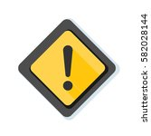 exclamation danger sign... | Shutterstock .eps vector #582028144