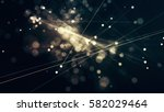 glowing particles and lines... | Shutterstock . vector #582029464