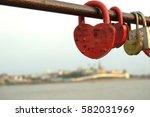 Locks In Form Of Heart   Symbol ...