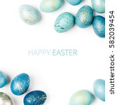 Happy Easter Card. Frame  With...