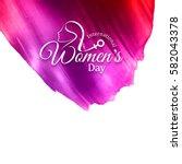 abstract modern women's day... | Shutterstock .eps vector #582043378