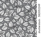 mint leaf pattern. peppermint... | Shutterstock .eps vector #582052249