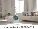 white room with sofa.... | Shutterstock . vector #582056314
