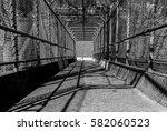steel gate walkway. walkway... | Shutterstock . vector #582060523