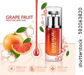 grapefruit serum moisture skin... | Shutterstock .eps vector #582063820