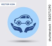 pictograph of car | Shutterstock .eps vector #582071290