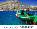Fishing Boat Moored Harbor.s...