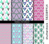 collection of geometric vector... | Shutterstock .eps vector #582089914