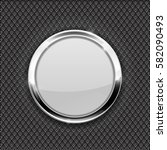 white round glass button on... | Shutterstock .eps vector #582090493