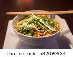pho chay  vietnamese soup | Shutterstock . vector #582090934