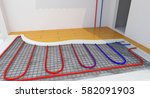 radiant underfloor heating ... | Shutterstock . vector #582091903
