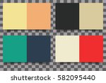 colored squares with shadow on... | Shutterstock .eps vector #582095440
