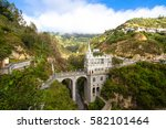 Small photo of Las Lajas Sanctuary is a basilica church located in the southern Colombian, in the municipality of Ipiales, and built inside the canyon of the Guáitara River.