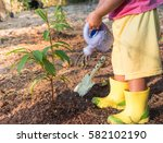 gardening and planting concept... | Shutterstock . vector #582102190