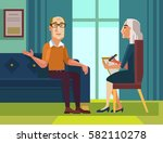 patient character talking to...   Shutterstock .eps vector #582110278