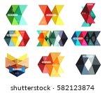 vector blank infographic arrow... | Shutterstock .eps vector #582123874