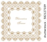 decorative square frame with... | Shutterstock . vector #582127339