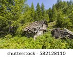 Dilapidated Mountain Hut In Th...
