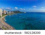 waikiki beach | Shutterstock . vector #582128200